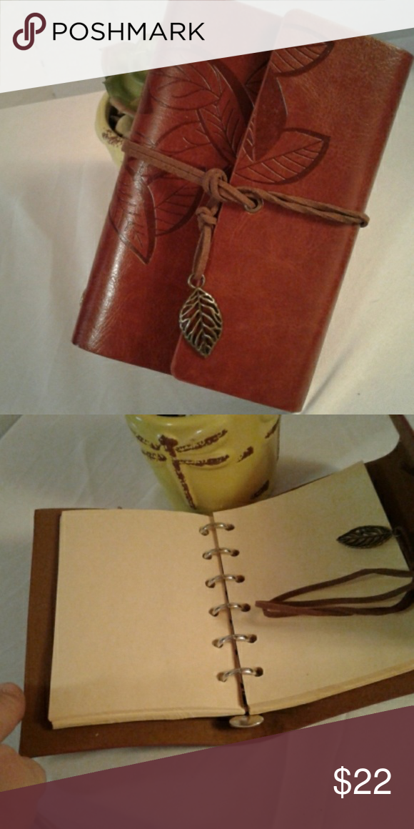 Small Leaf Vegan Leather Journal