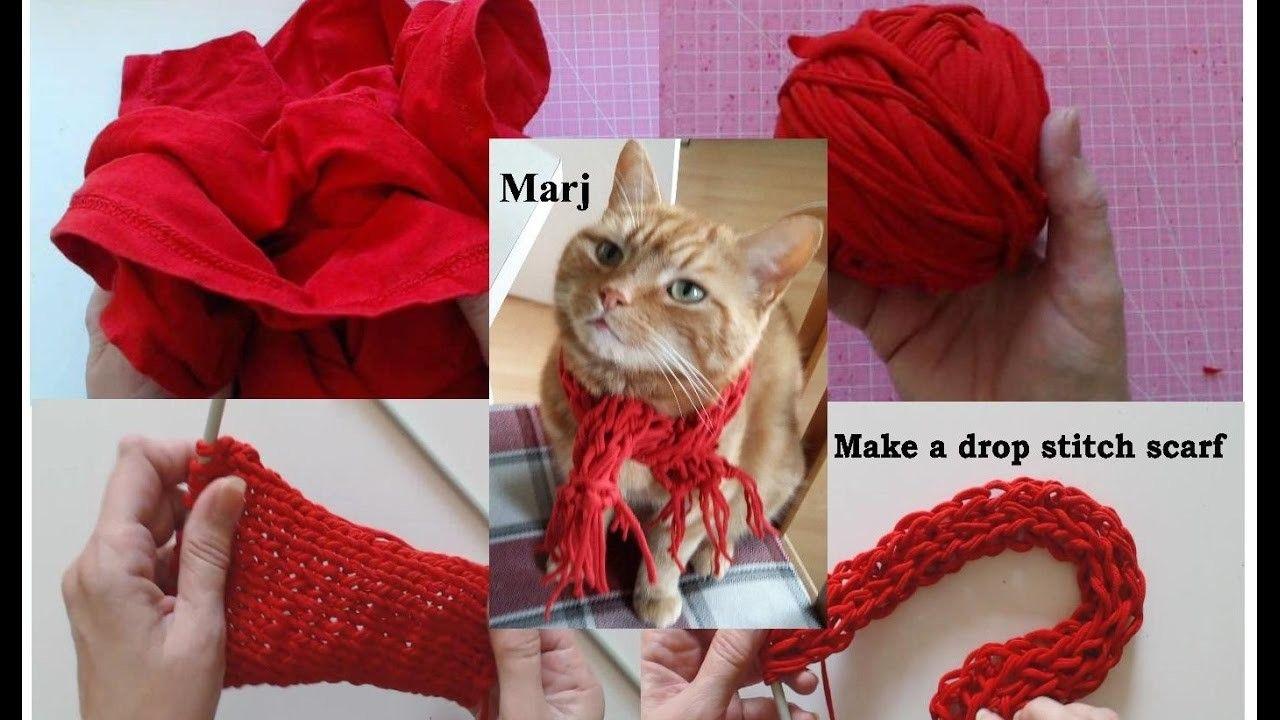 How to make tshirt yarn make a continous strand knit a drop