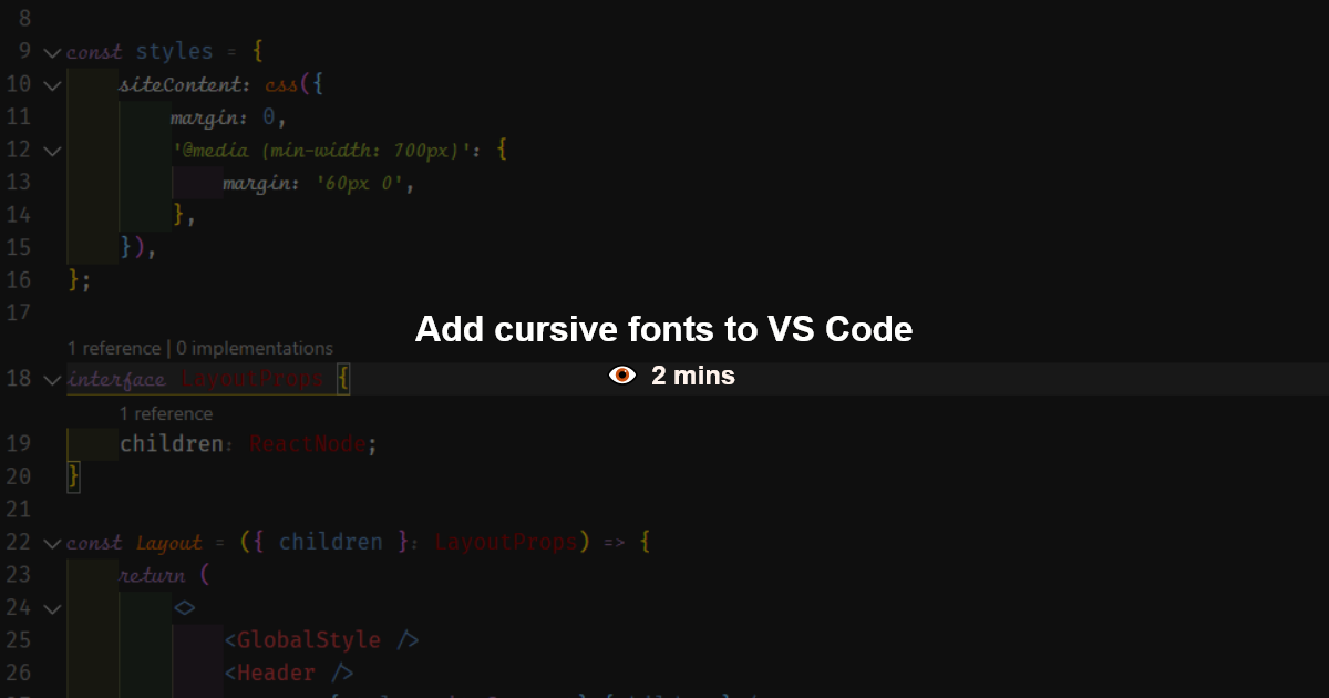 How To Add Ligatures And Cursive Fonts To Vs Code Cursive Fonts Cursive Coding
