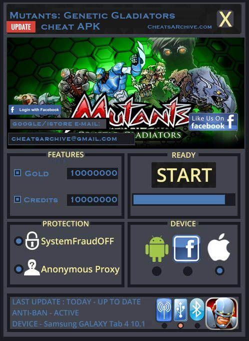 mutant genetic gladiator apk hack