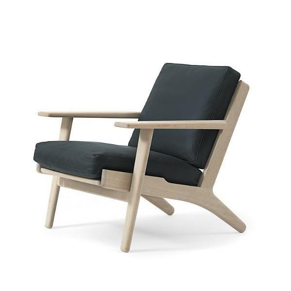 wegner classic 290 easy chair - down top cushions | easy, living