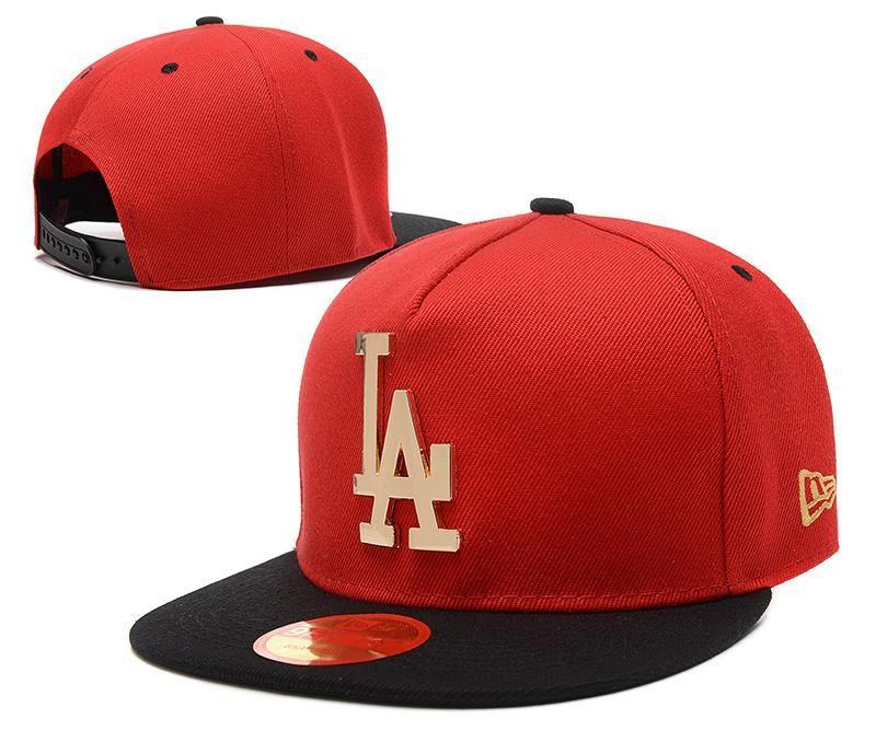 Men s Los Angeles Dodgers New Era 9Fifty Gold Metal LA Logo A Frame Baseball Snapback