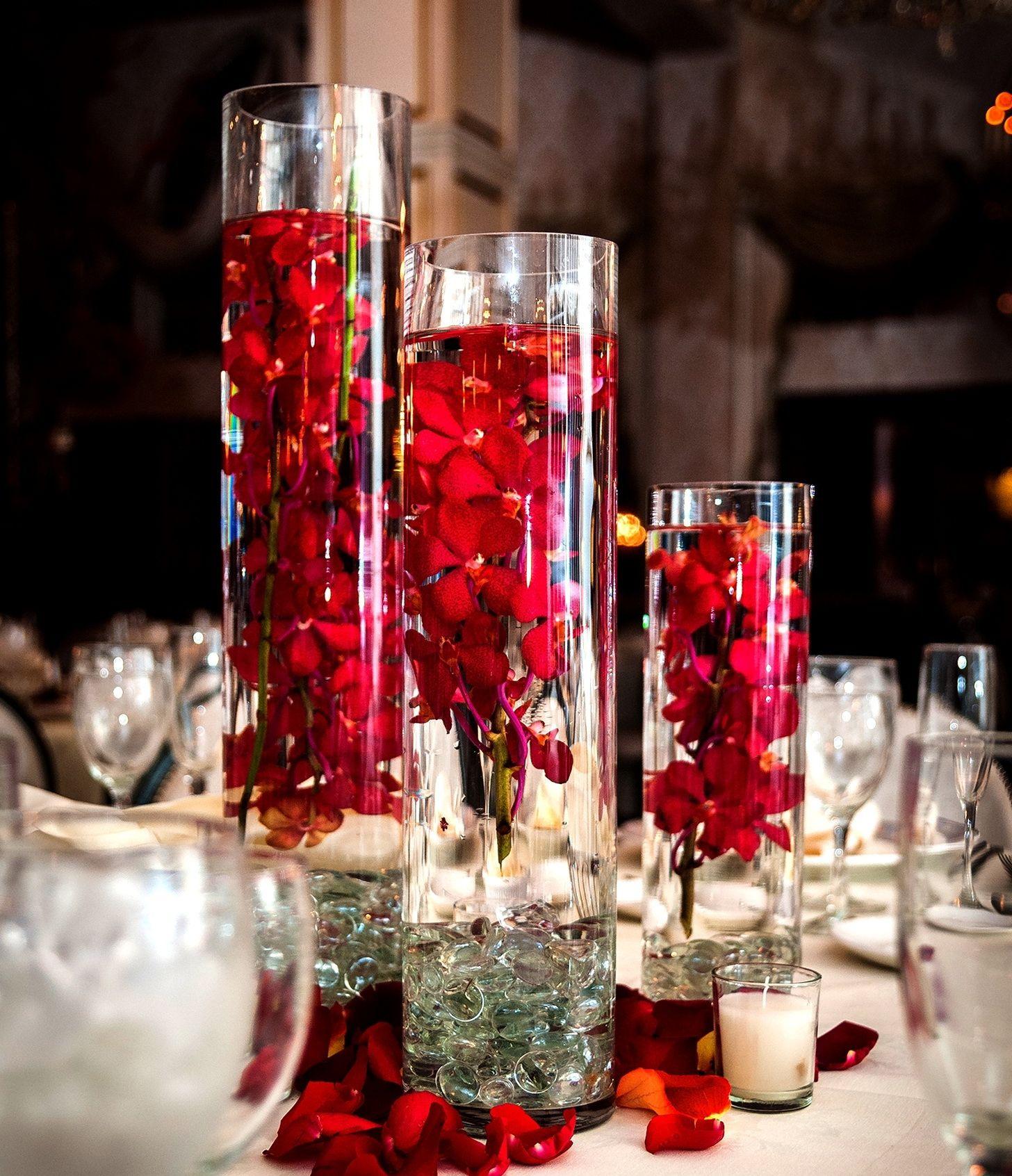 Weddings Red Rose Centerpieceschristmas