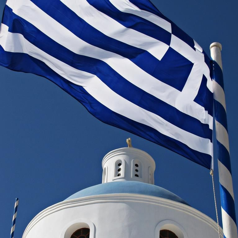 flag blue with white cross