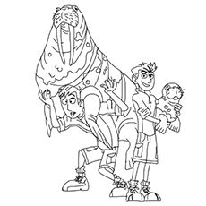 Wild Kratts Coloring Pages Free Printable Momjunction Wild Kratts Cartoon Coloring Pages Coloring Pages
