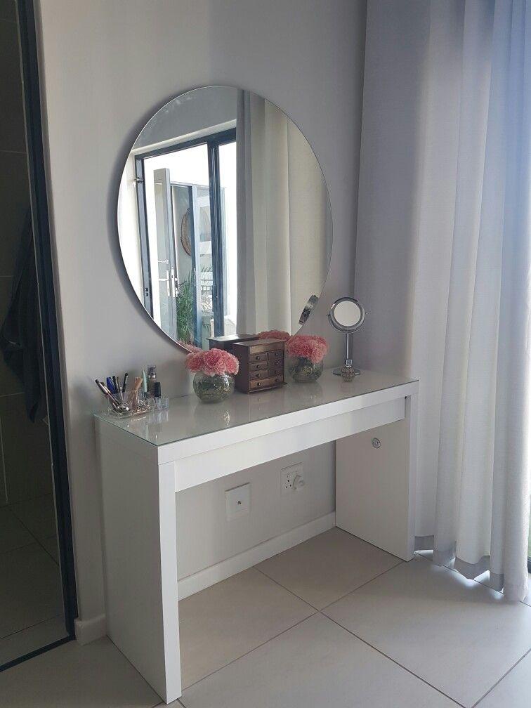 Ikea Malm Dresser With Frameless Round Mirror Ikea Malm Dresser Malm Dresser Ikea Malm