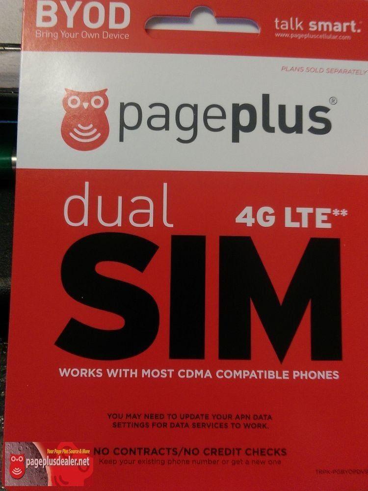 Page plus cellular 4g lte dual sim card standardmicro