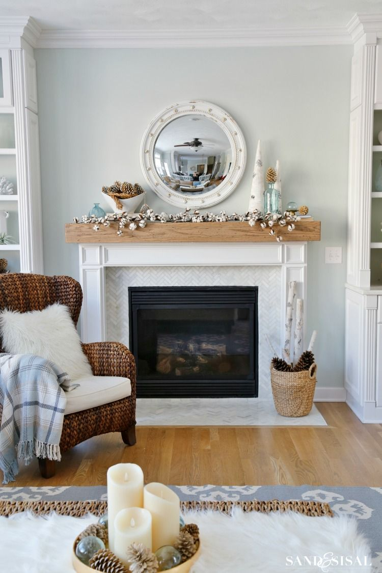 Cozy Winter Mantel Easy Winter Decorating Ideas Sand And S