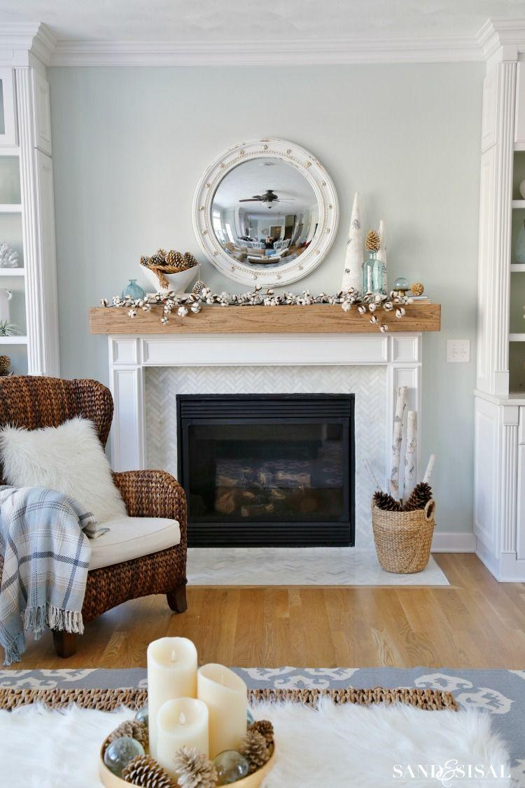 My Winter Mantel Post Christmas Decor Ideas Winter Home Decor