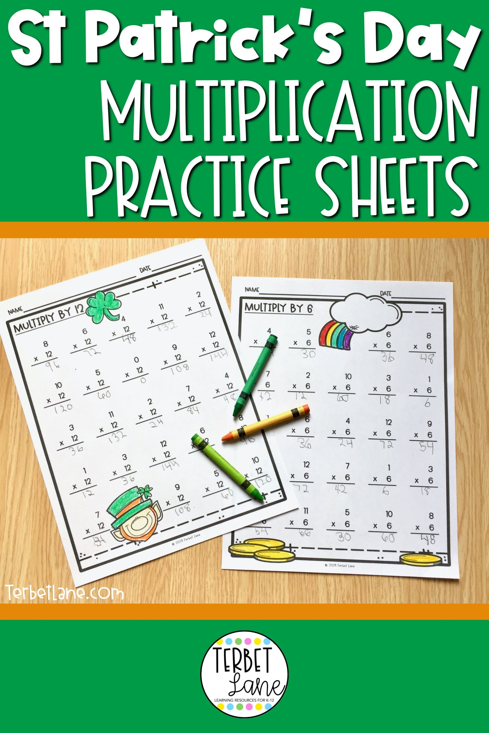 St Patrick S Multiplication Worksheets Digital Activities
