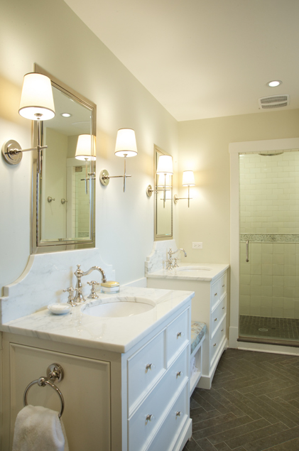 Source Scott Lyon Company Stunning Ensuite With Visual Comfort Lightings Bryant Sconces