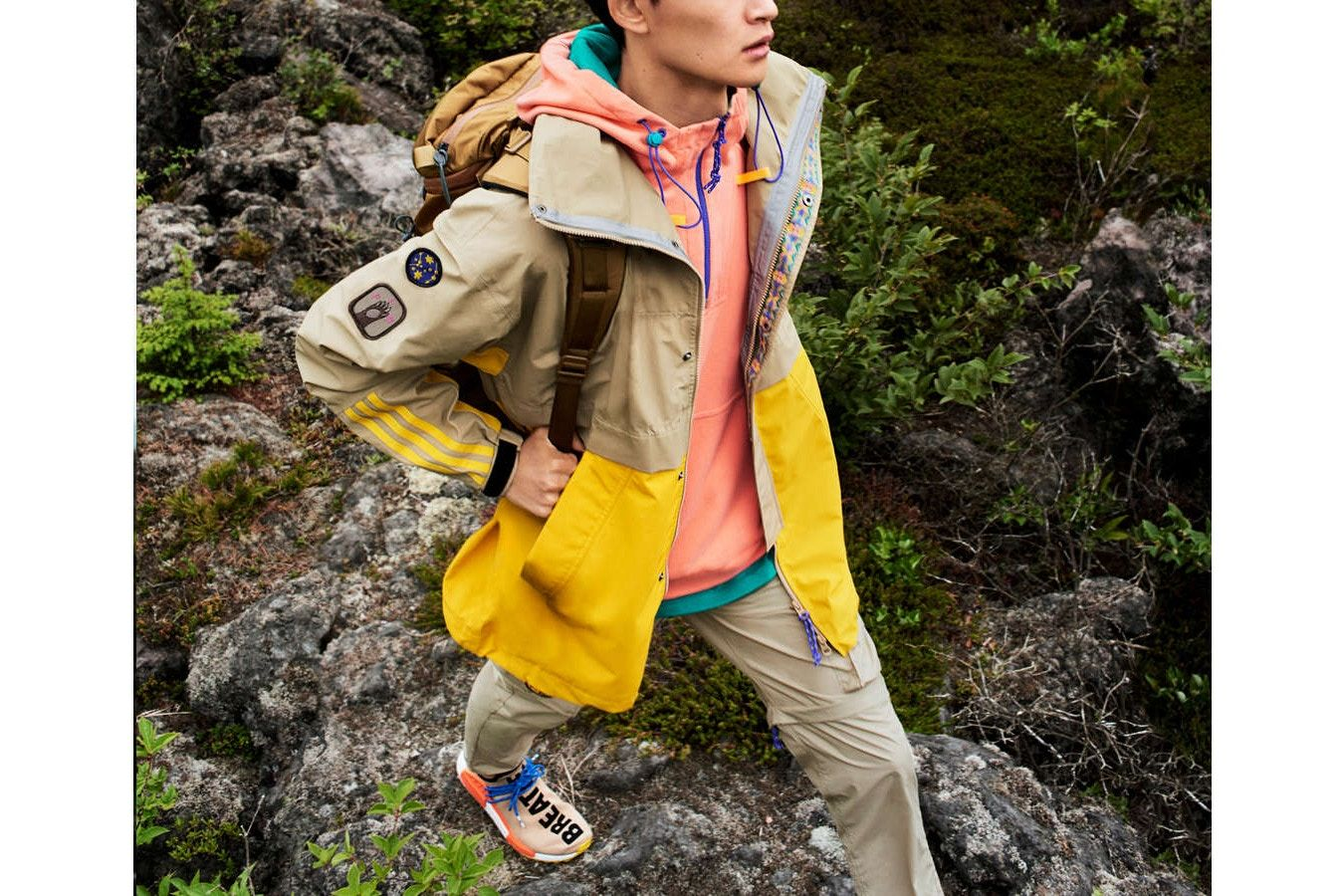 47f646a91b400 Pharrell Williams adidas Originals Statement Hiking Hu NMD Trail Footwear  Outerwear Apparel Fashion Clothing Hiking Outdoors Nature