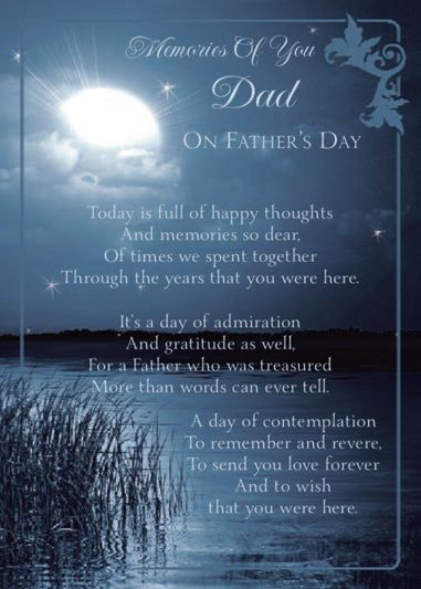 Happy Fathers Day To My Dad In Heaven Today Is Full Of Memories