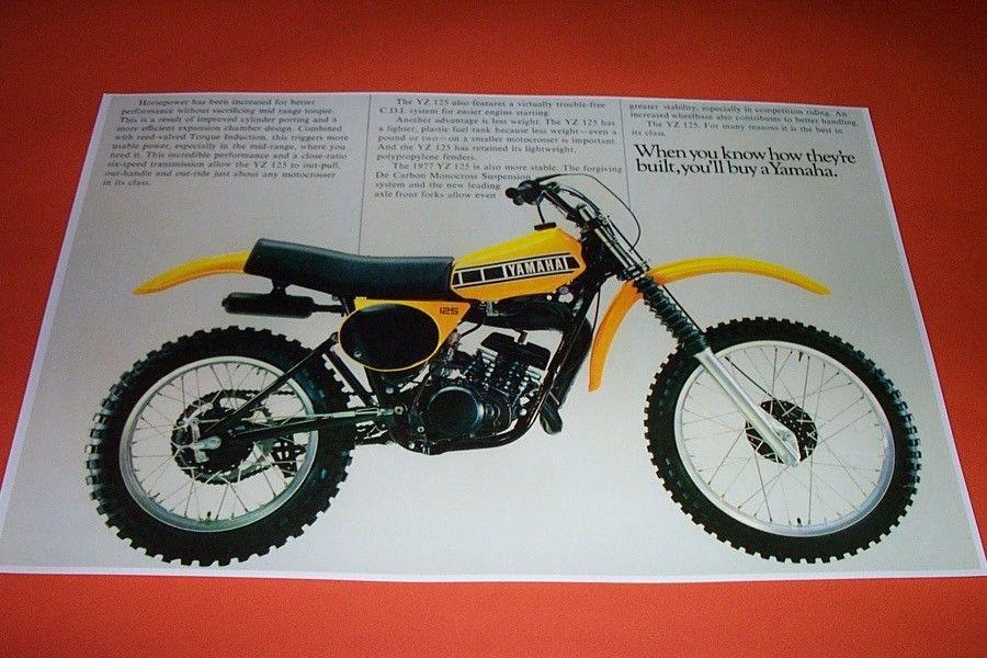 77 yamaha yz 125 motocross dirt bike poster yz125 vintage motor bike motocross publicscrutiny Choice Image