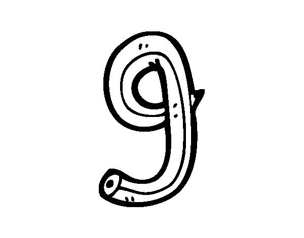 Dibujo De G Minuscula Para Pintar Y Colorear En Linea British Leyland Logo Vehicle Logos Letters