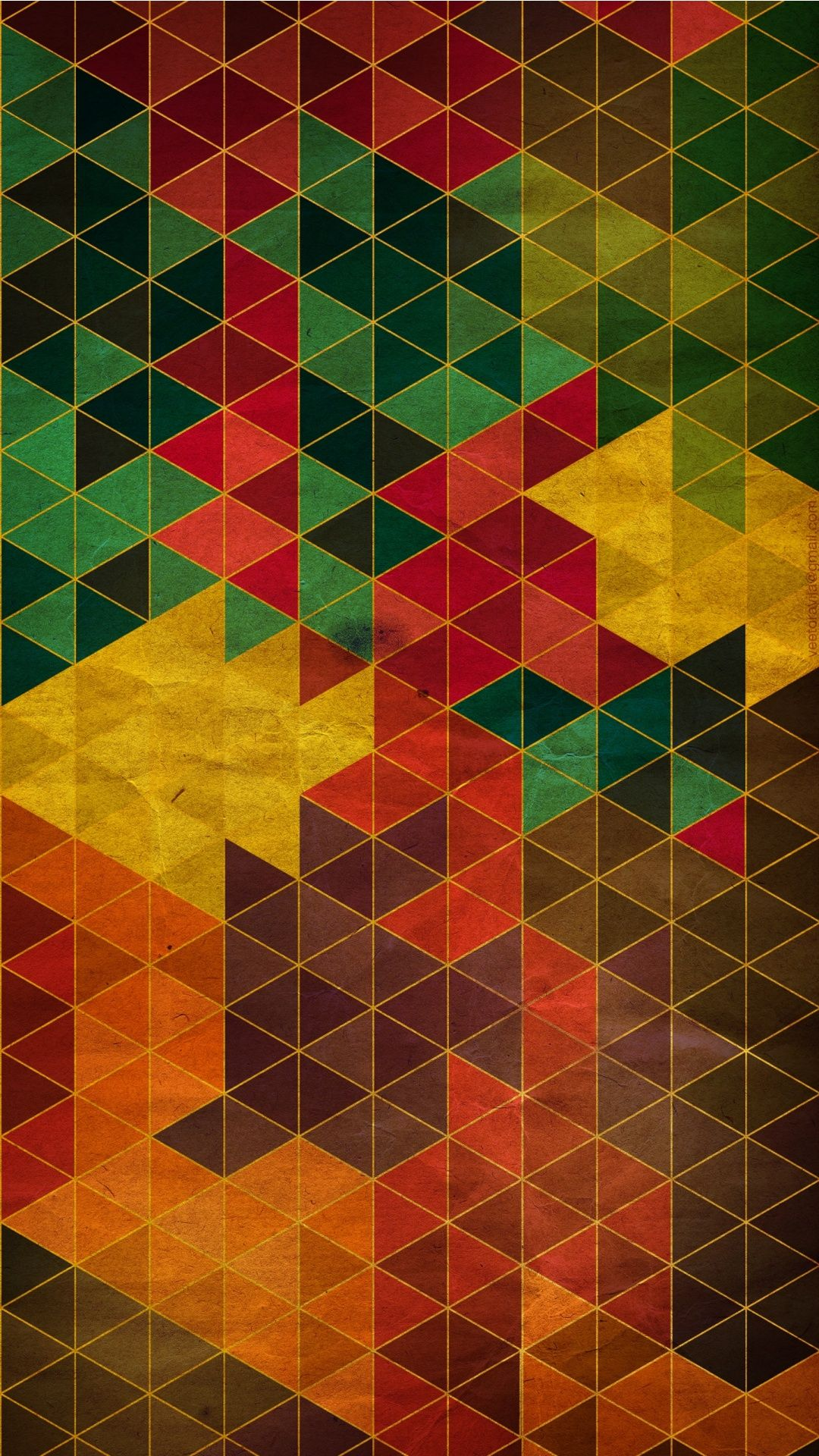 Tap image for more beautiful iphone background cool warm - Geometric wallpaper colorful ...