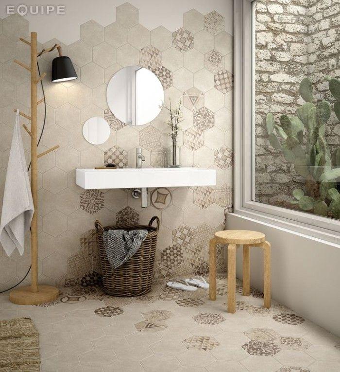Piastrelle esagonali neutre con inserimento - Incollare piastrelle su piastrelle bagno ...