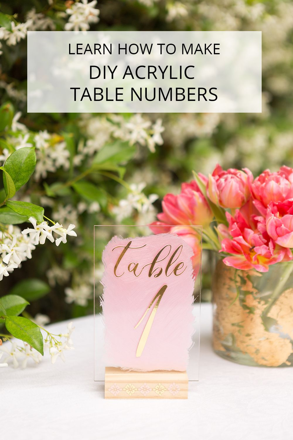 DIY Acrylic Table Numbers With Cricut And Martha Stewart