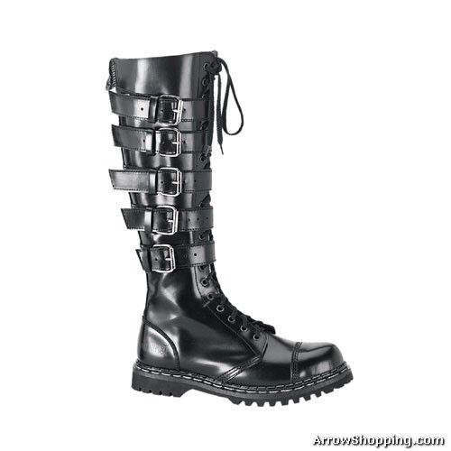 d302de3b5d mens gothic boots | helmet | I NEED THIS | Steel toe boots, Buckle ...