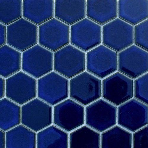 Cobalt Blue Hexagon Tile All Products Bath Tile Wall