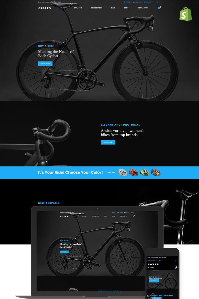 Premium Bikes Online Store Shopify template. themes