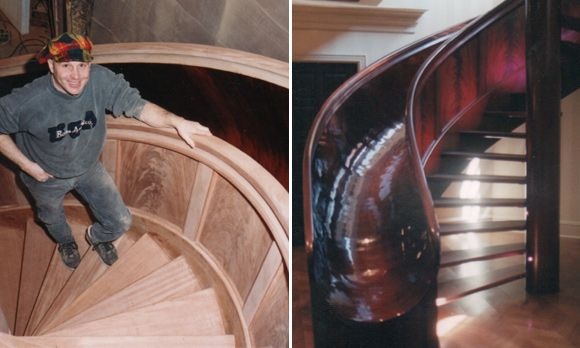 Nice! Awesome Slide Next To Spiral Stair Case. The Home Also Includes An  Indoor