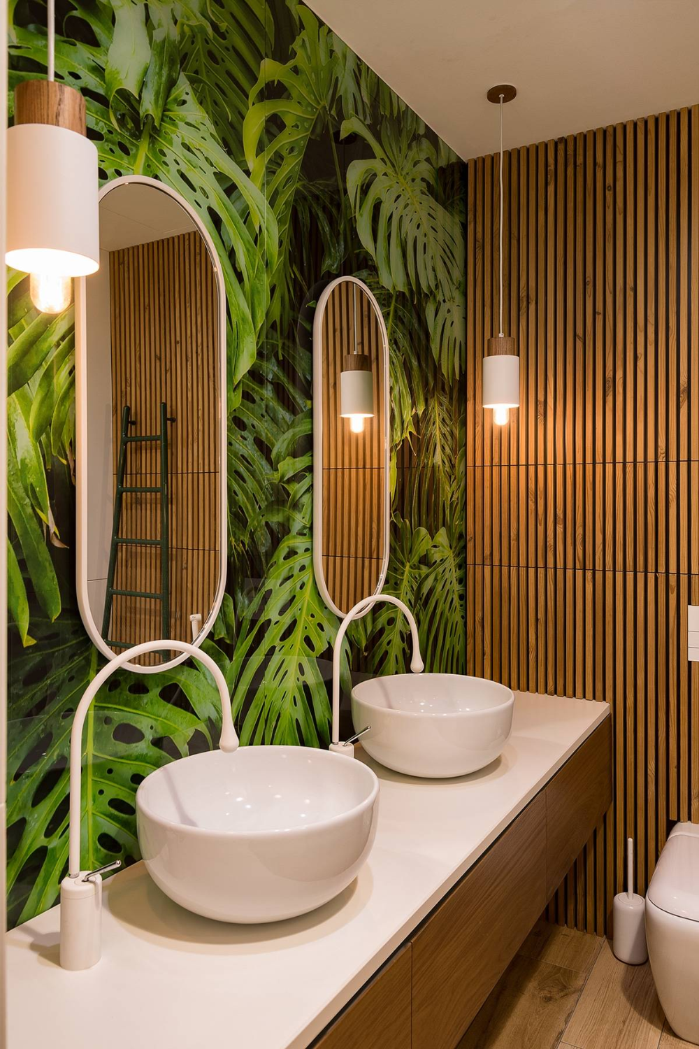 Modern Perfection In Kyiv Apartment In 2020 Tropical Bathroom Decor Tropical Bathroom Tropical Home Decor