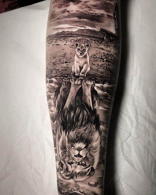 12+ Cool Lion King Tattoo Ideas – Sleeve Tattoo Designs