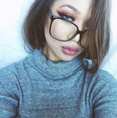 0bb9500d31 Oversized XL Clear Lenses Women Men SQUARE Large BLACK Frame Eyeglasses  Glasses