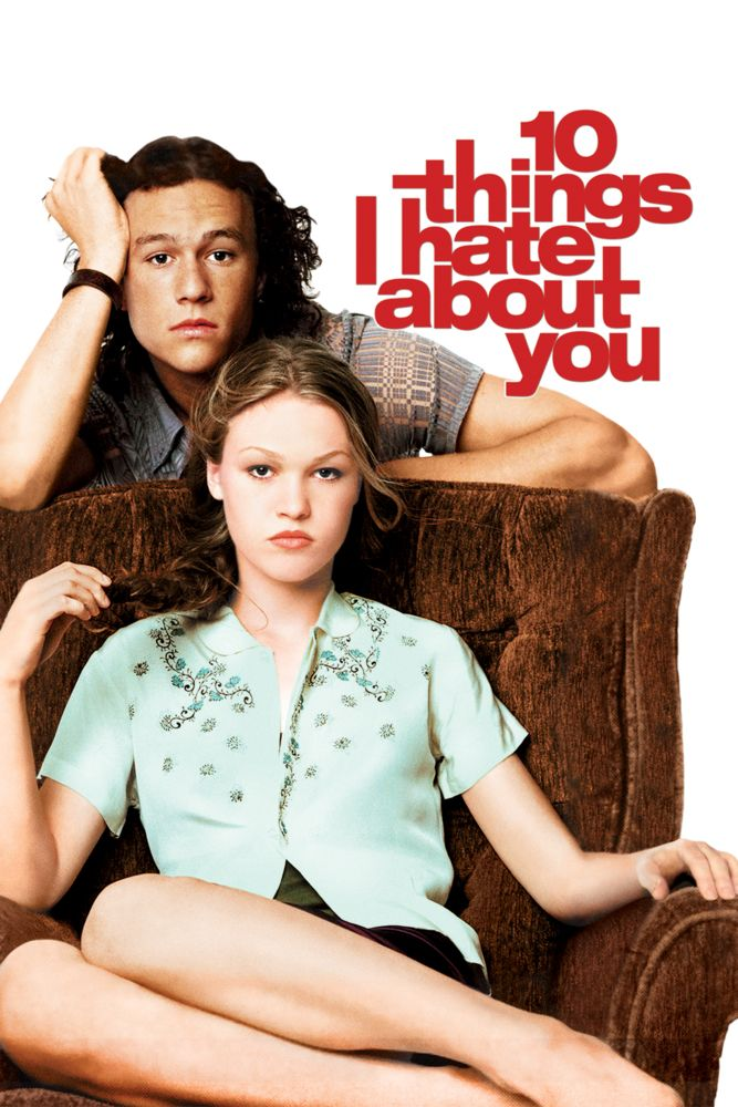 10 Things I Hate About You Movie Poster - Heath Ledger, Julia Stiles, Joseph Gordon-Levitt  #MoviePoster, #Comedy, #GilJunger, #HeathLedger, #JosephGordon, #Levitt, #JuliaStiles