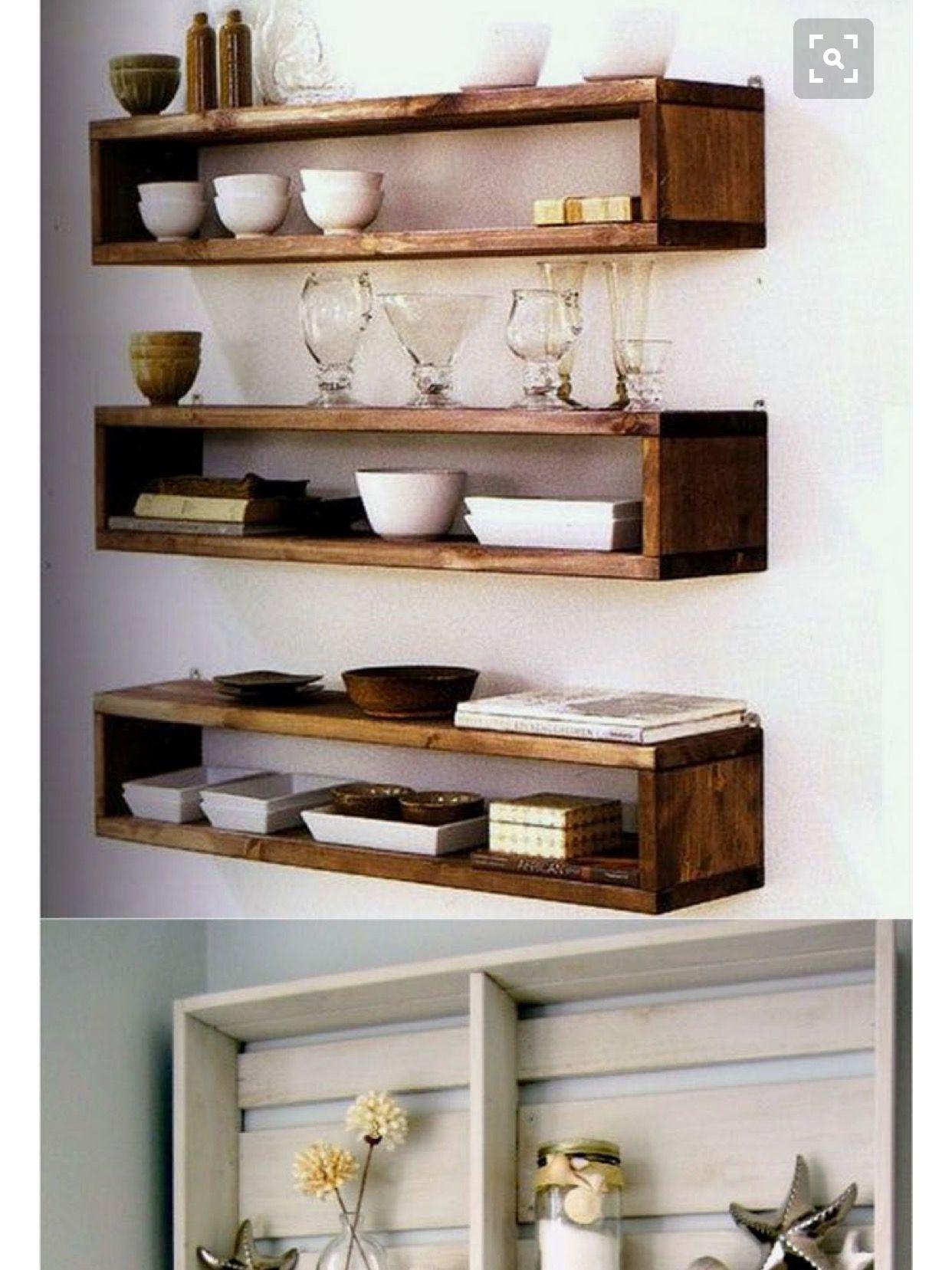 Pin by Stephanie Christine on D I Y | Wood box shelves, Easy ...
