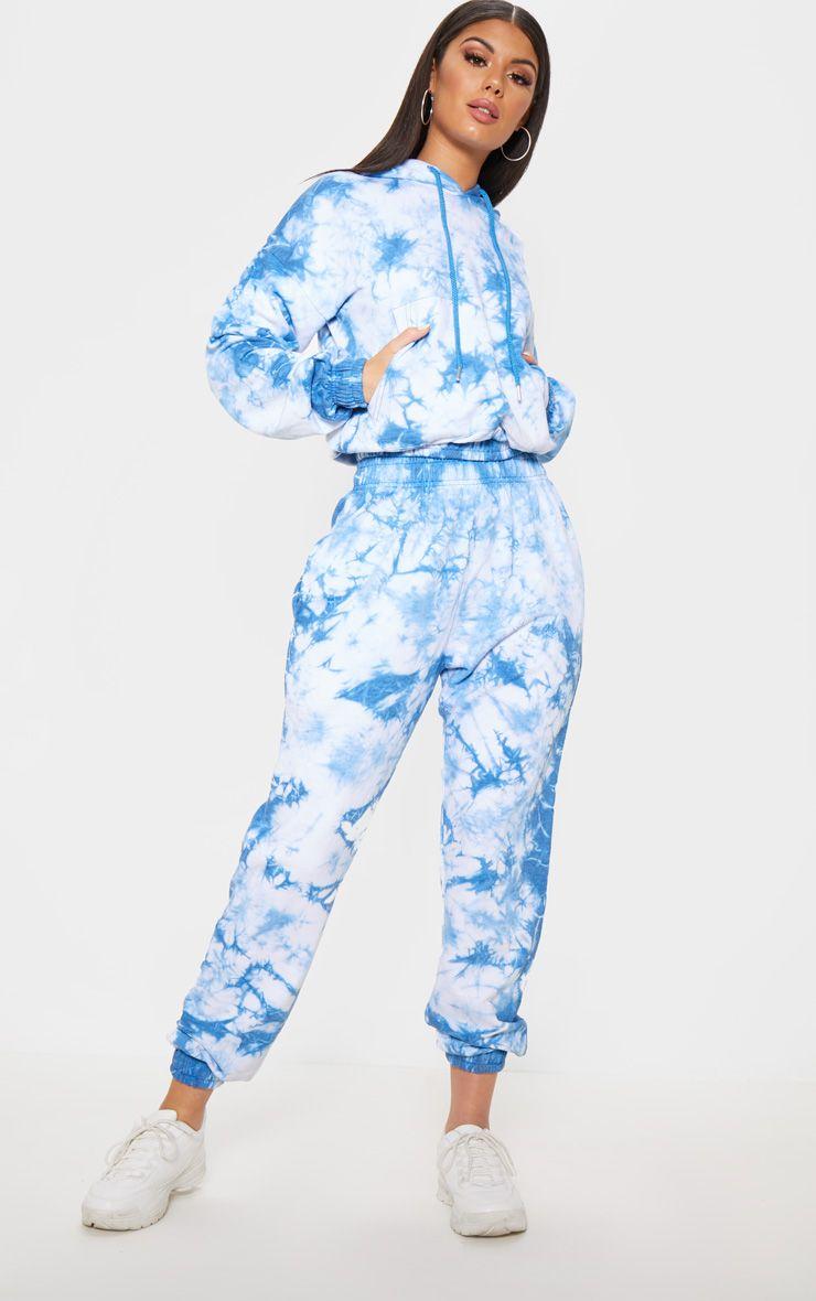 Blue tie dye jogger in 2020 tie dye pants tie dye