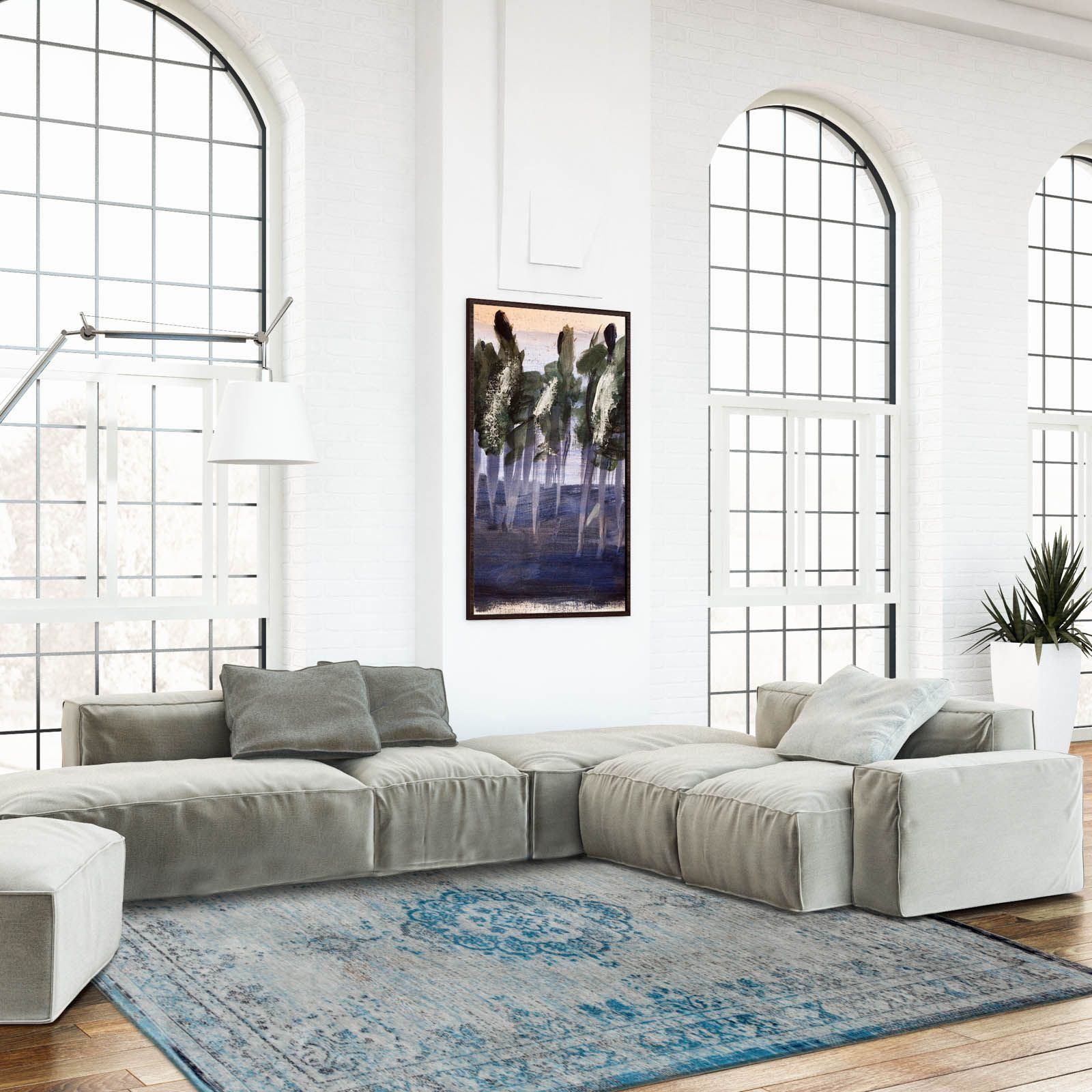 Louis De Poortere Fading World Rugs 8255 Grey Turquoise60x90cm 3 0 X2 0 Blue Rooms Grey Rugs Shop Interiors