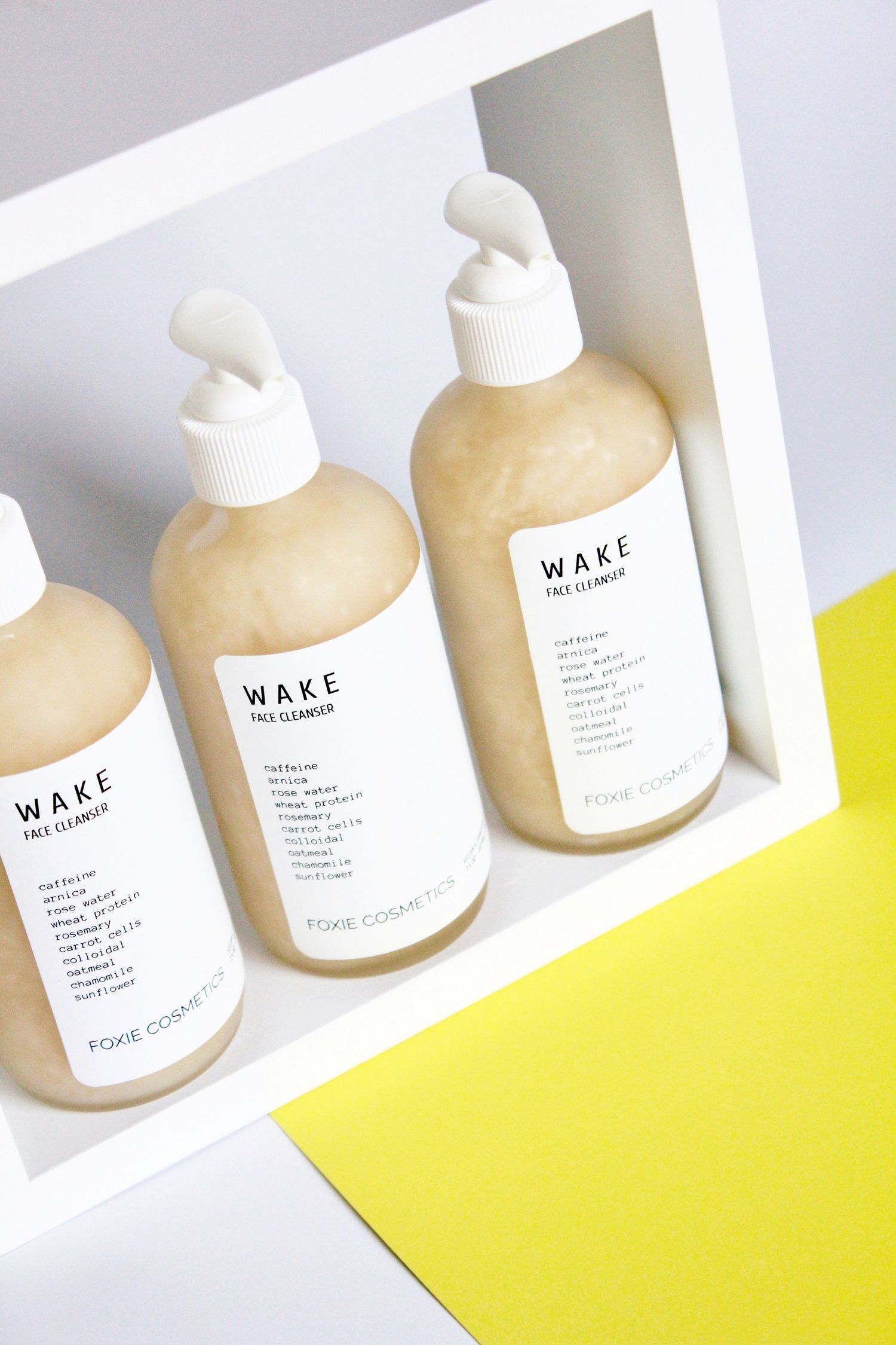 Wake Cleansing gel, Face cleanser, Cosmetics