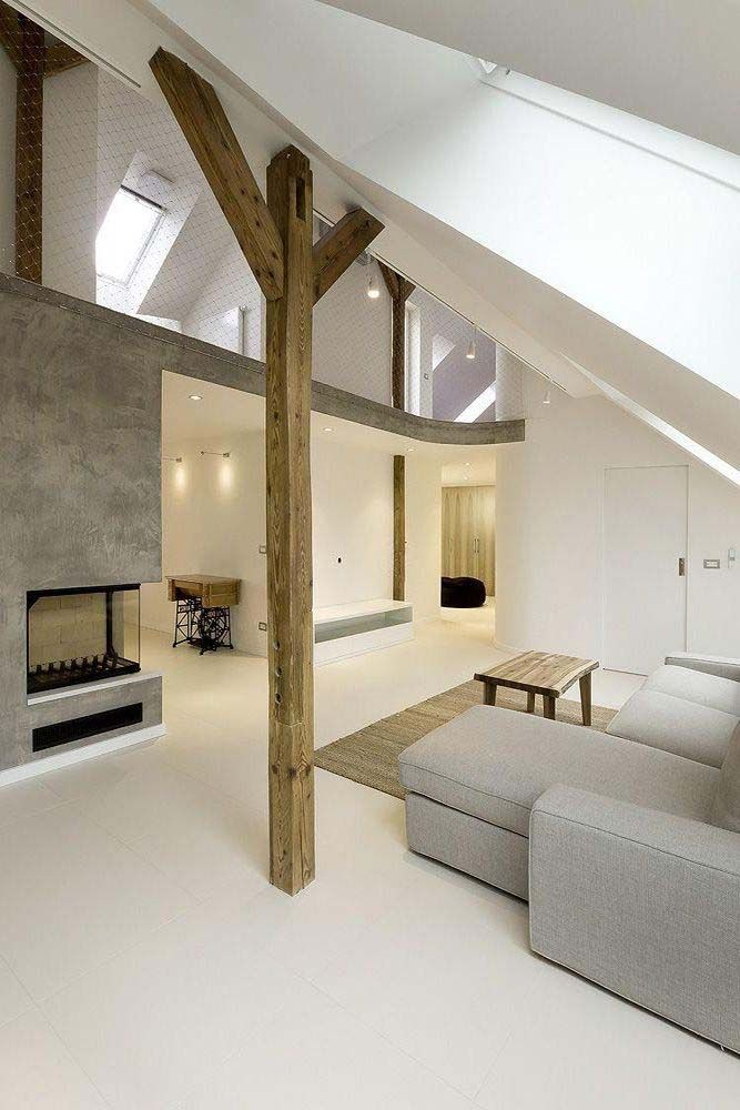 Amazing loft design modern and simple this interior was designed by  architects located in prague czech republic also rh pinterest