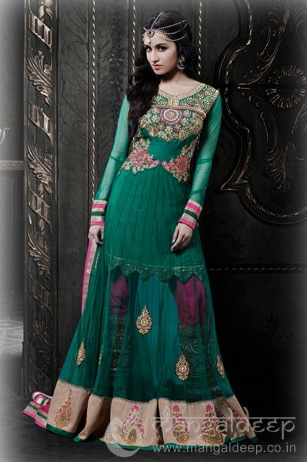 http://www.mangaldeep.co.in/dark-green-shaded-designer-unstitch-salwar-suit-3080 For further inquiry whatsapp or call at +919377222211