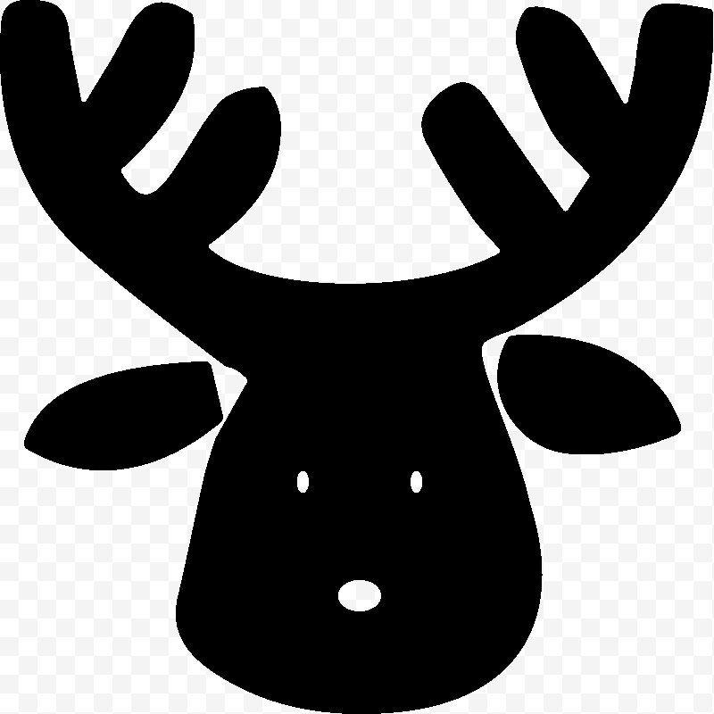 Reindeer Reindeer Antler White Line Clip Art Png Reindeer Antler Black And White Deer Head Reindeer Antlers Reindeer Clip Art