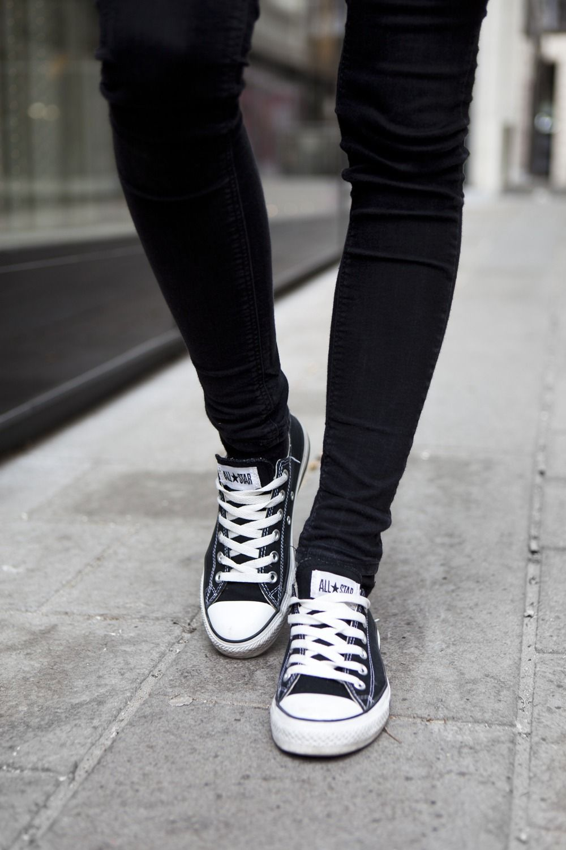 all black converse tumblr