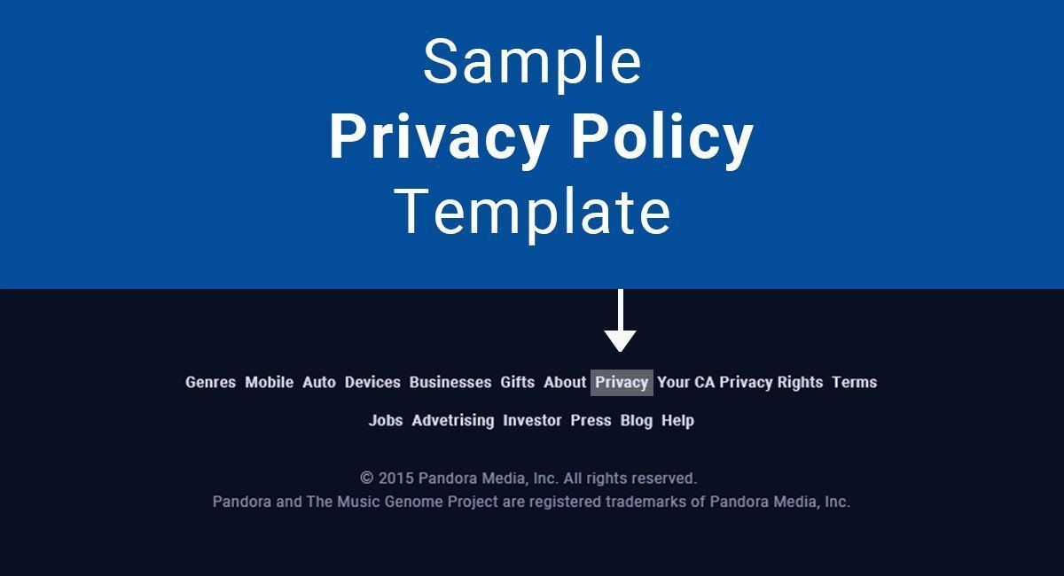 Sample Privacy Policy Template Blog Pinterest Sample resume