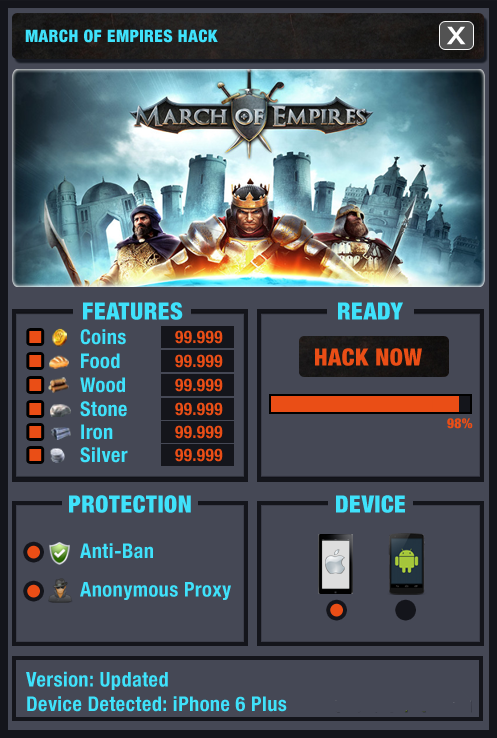 LATEST! March of Empires Hack 2018 Updated Generator for