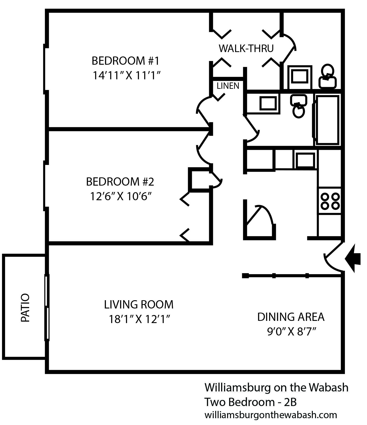 2 Bedroom Apartment Near Me Rent: Two Bedroom Apartment Near Purdue University In West