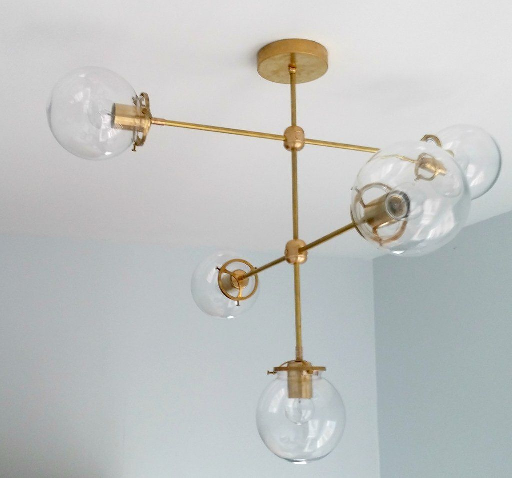 Cabildo Chandelier Large Brass Or Chrome And Glass Modern