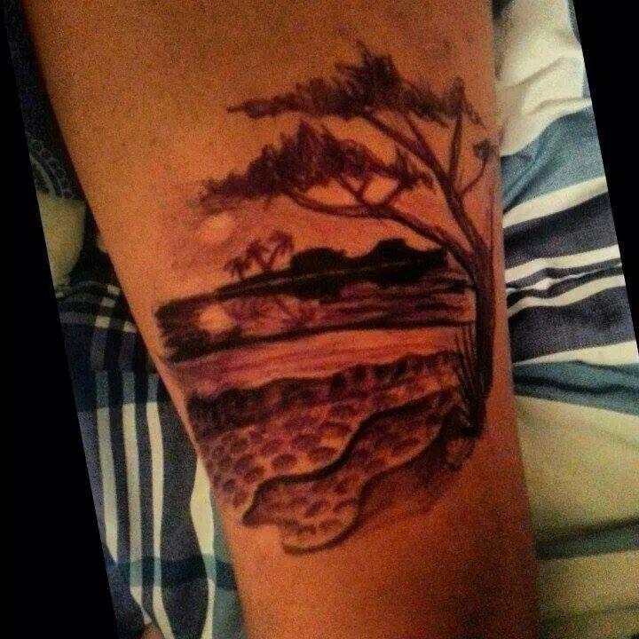 rib scenery tattoos