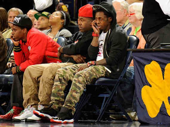 0ca575a15c80 Celebrity Kicks  Lil Wayne with his Bred 11s on!