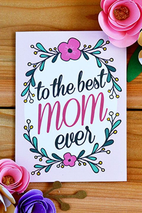 Use One Of These Free Printable Mother S Day Cards To Tell Your Mom How Much You Love Her Best Mothers Day Cards Birthday Cards For Mom Mothers Day Cards Printable