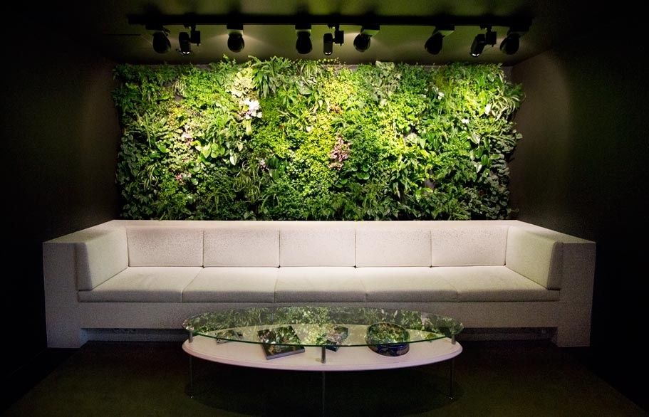 office feature wall. Office Feature Wall Ideas. Waiting Room Verical Garden Couch Impressive Babylon For