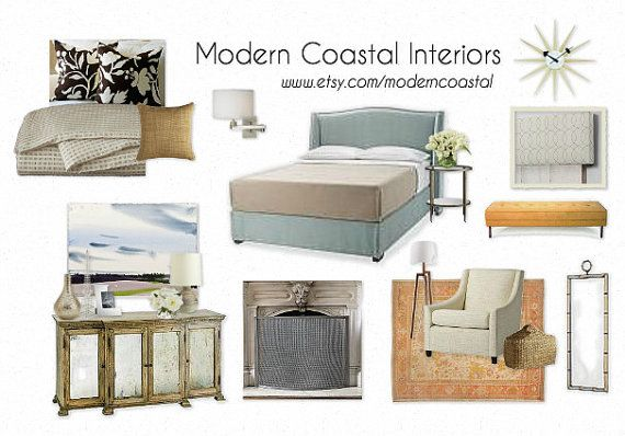 Custom Styleboard / Moodboard   Coastal Bedroom (example)   Interior Design,  E Design   One Board Per Room   Mood / Style / Design Board