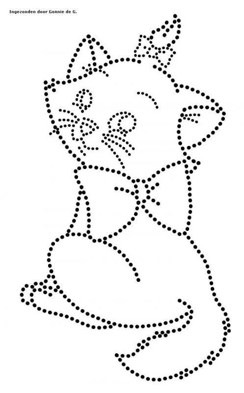 Katten poezen katten poezen glittermotifs perlen bild pinterest fadengrafik vorlagen - Fadenkunst vorlagen ...