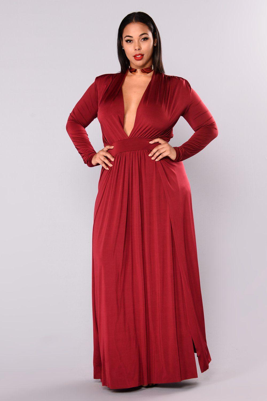 77ecc4e8c07 Spree Dress - Burgundy