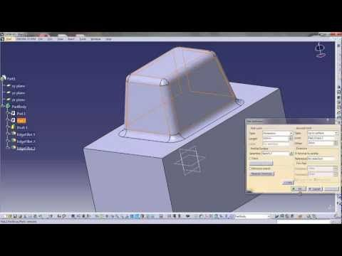 Catia V5 Tutorial 2 Pad Solidworks Tutorial Mechanical Design Tutorial